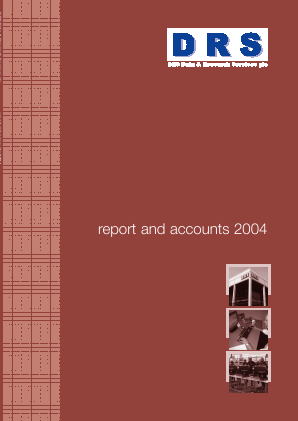 DRS Data & Research Services annual report 2004