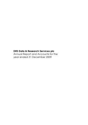 DRS Data & Research Services annual report 2009