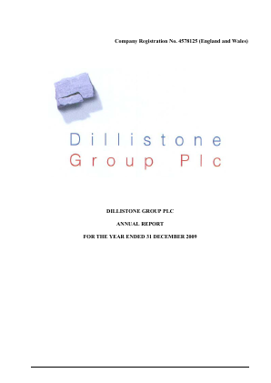Dillistone Group annual report 2009
