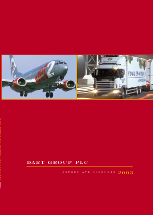 Dart Group Plc annual report 2003