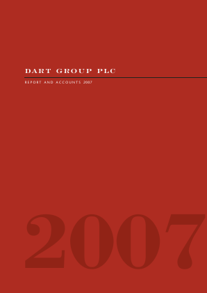 Dart Group Plc annual report 2007