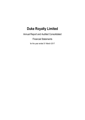 Duke Royalty annual report 2017