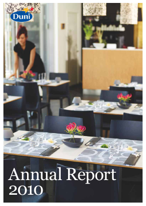 Duni annual report 2010