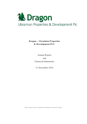 Dragon-ukrainian Properties&devlpmt annual report 2016