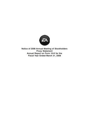 Electronic Arts Inc. annual report 2008