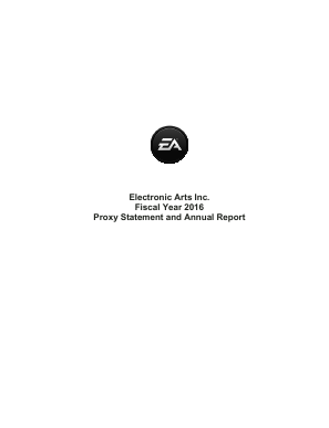 Electronic Arts Inc. annual report 2016