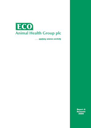 Eco Animal Health Group Plc annual report 2008