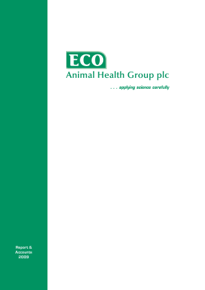 Eco Animal Health Group Plc annual report 2009