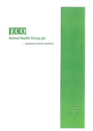 Eco Animal Health Group Plc annual report 2010