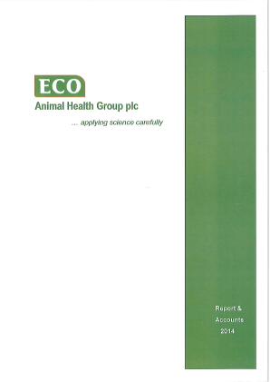 Eco Animal Health Group Plc annual report 2014
