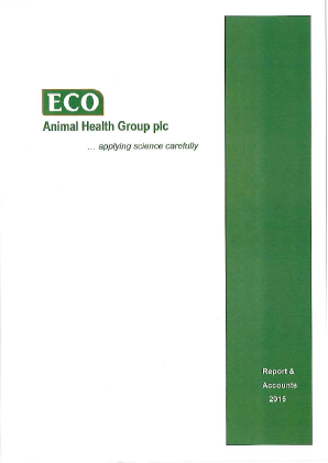 Eco Animal Health Group Plc annual report 2015