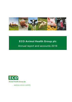 Eco Animal Health Group Plc annual report 2016