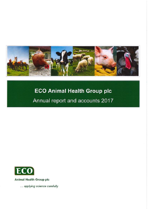 Eco Animal Health Group Plc annual report 2017