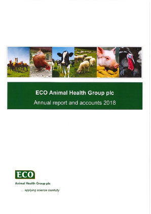Eco Animal Health Group Plc annual report 2018