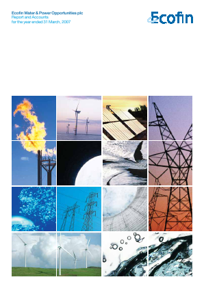 Ecofin Global Utilities and Infrastructure Trust plc (formally Ecofin Water & Power Opportunities) annual report 2007