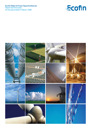 Ecofin Global Utilities and Infrastructure Trust plc (formally Ecofin Water & Power Opportunities) annual report 2008