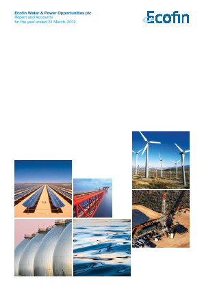 Ecofin Global Utilities and Infrastructure Trust plc (formally Ecofin Water & Power Opportunities) annual report 2012