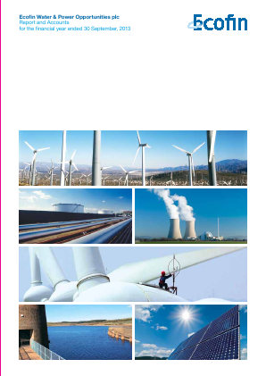 Ecofin Global Utilities and Infrastructure Trust plc (formally Ecofin Water & Power Opportunities) annual report 2013
