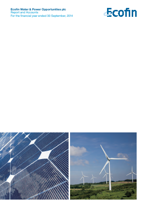 Ecofin Global Utilities and Infrastructure Trust plc (formally Ecofin Water & Power Opportunities) annual report 2014