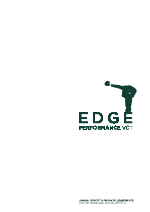 Edge Performance VCT Plc annual report 2014