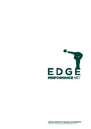 Edge Performance VCT Plc annual report 2015