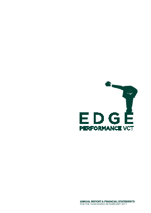 Edge Performance VCT Plc annual report 2017