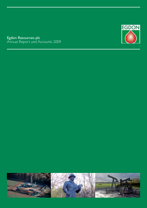 Egdon Resources Plc annual report 2009