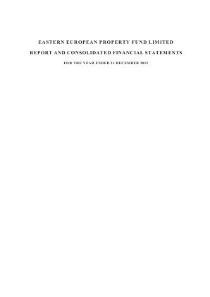 Eastern European Property Fund annual report 2012