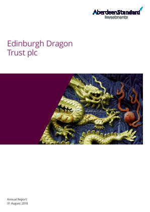 Edinburgh Dragon Trust annual report 2018