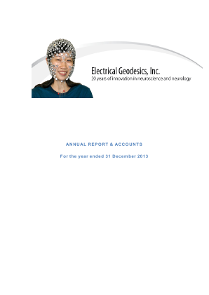 Electrical Geodesics Inc annual report 2013