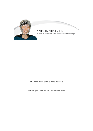 Electrical Geodesics Inc annual report 2014