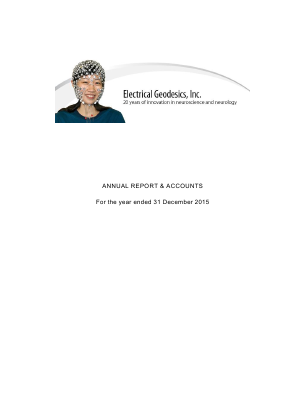 Electrical Geodesics Inc annual report 2015