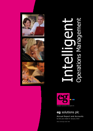 Eg Solutions Plc annual report 2010