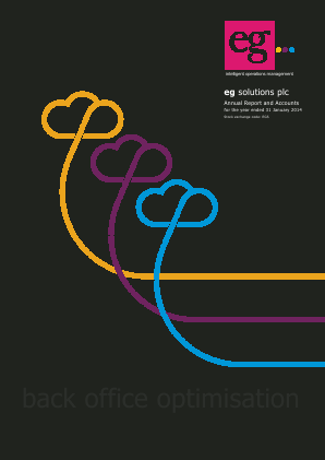 Eg Solutions Plc annual report 2014
