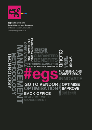 Eg Solutions Plc annual report 2015