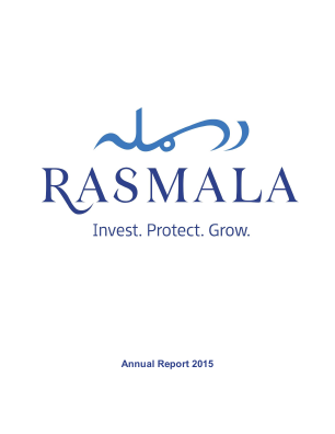 Rasmala (formally European Islamic Investment Bank) annual report 2015
