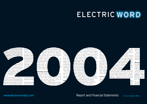 Electric Word annual report 2004