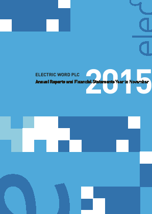 Electric Word annual report 2015