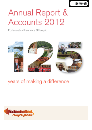 Ecclesiastical Insurance Office annual report 2012