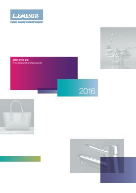 Elementis annual report 2016