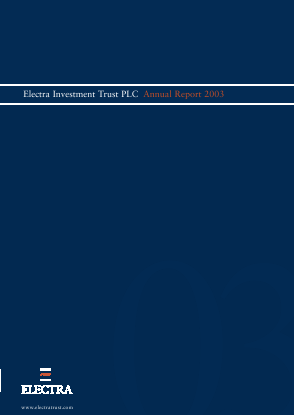 Electra Private Equity annual report 2003