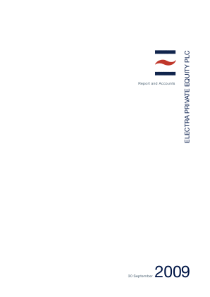 Electra Private Equity annual report 2009