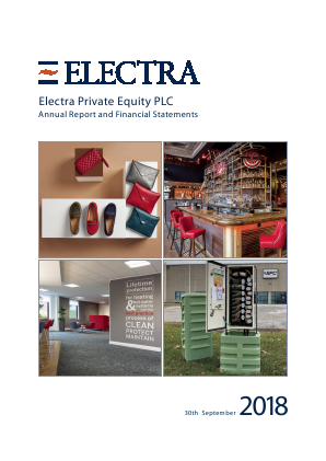 Electra Private Equity annual report 2018