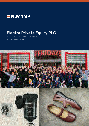 Electra Private Equity annual report 2019