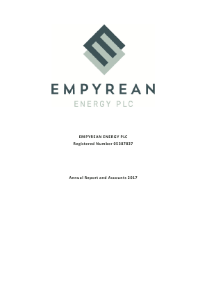 Empyrean Energy annual report 2017