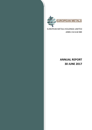 European Metals annual report 2017