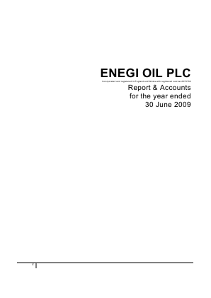 Nu-Oil and Gas PLC (formally Enegi Oil) annual report 2009