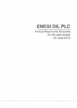 Nu-Oil and Gas PLC (formally Enegi Oil) annual report 2014