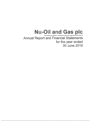 Nu-Oil and Gas PLC (formally Enegi Oil) annual report 2016