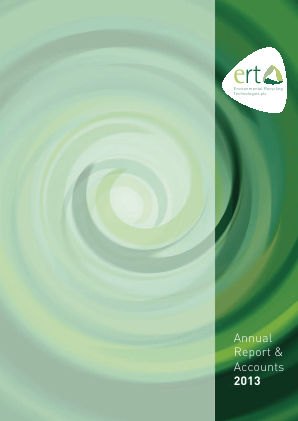 Environmental Recycling Technologies annual report 2013